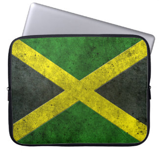 Jamaican Flag Aged Steel Effect Computer Sleeves