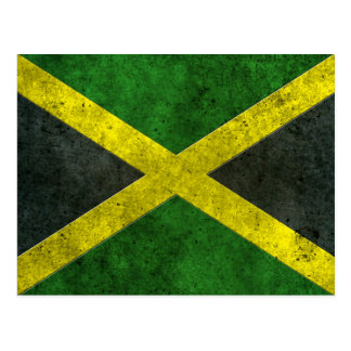 Jamaican Flag Aged Steel Effect Postcard
