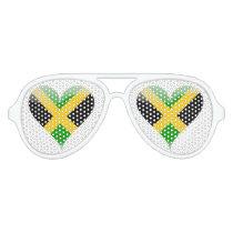 Jamaican flag aviator sunglasses