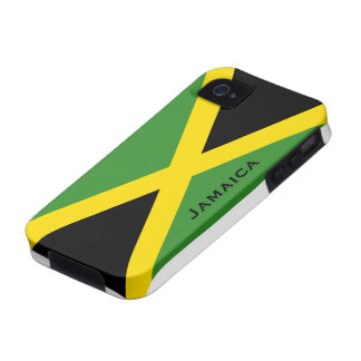 Jamaican Flag Black Green Yellow Case-Mate iPhone 4 Cover