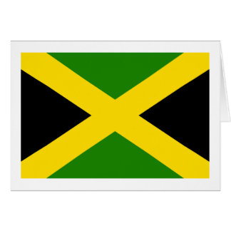 Jamaican Flag Card