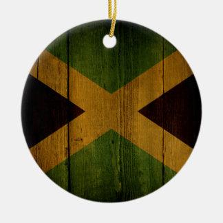 Jamaican flag. ceramic ornament