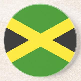 Jamaican Flag Beverage Coasters