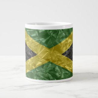 Jamaican Flag - Crinkled 20 Oz Large Ceramic Coffee Mug