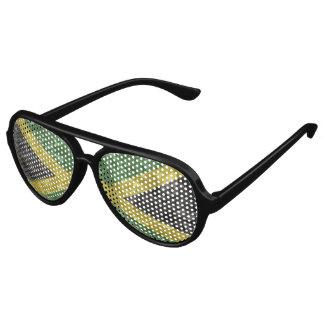 Jamaican Flag - Crinkled Aviator Sunglasses
