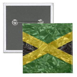 Jamaican Flag - Crinkled Button