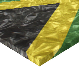 Jamaican Flag - Crinkled Stretched Canvas Print