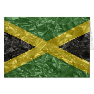 Jamaican Flag - Crinkled Card