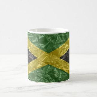 Jamaican Flag - Crinkled Classic White Coffee Mug
