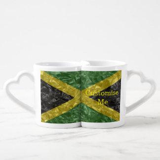 Jamaican Flag - Crinkled Couples' Coffee Mug Set