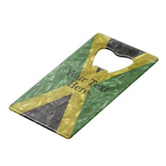 Jamaican Flag - Crinkled Credit Card Bottle Opener