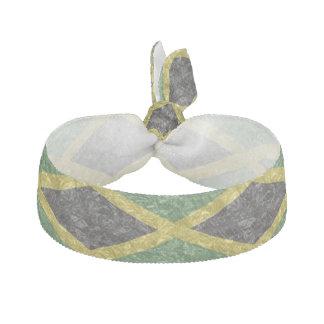 Jamaican Flag - Crinkled Hair Tie