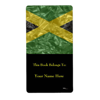 Jamaican Flag - Crinkled Shipping Label