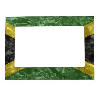 Jamaican Flag - Crinkled Magnetic Photo Frame
