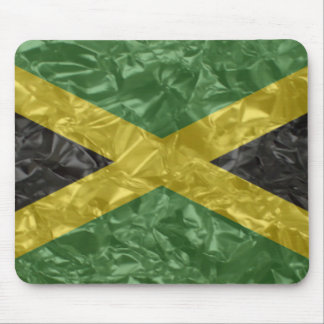 Jamaican Flag - Crinkled Mouse Pad