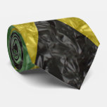 Jamaican Flag - Crinkled Neck Tie