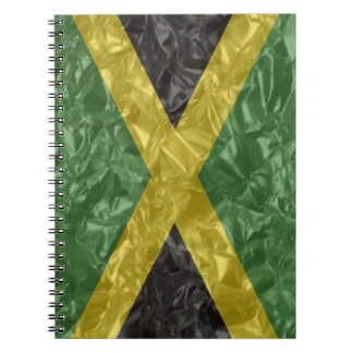 Jamaican Flag - Crinkled Note Book