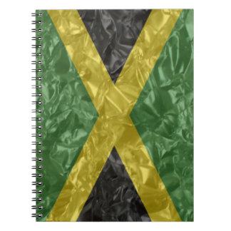 Jamaican Flag - Crinkled Notebook