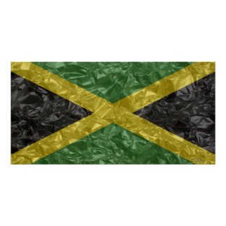 Jamaican Flag - Crinkled Posters