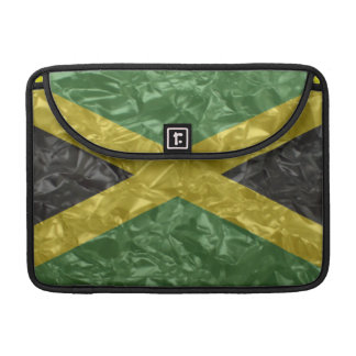 Jamaican Flag - Crinkled Sleeve For MacBook Pro