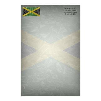 Jamaican Flag - Crinkled Stationery