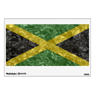 Jamaican Flag - Crinkled Wall Sticker