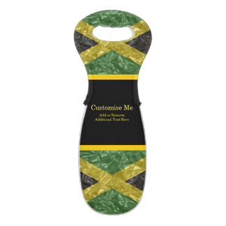 Jamaican Flag - Crinkled Wine Bag