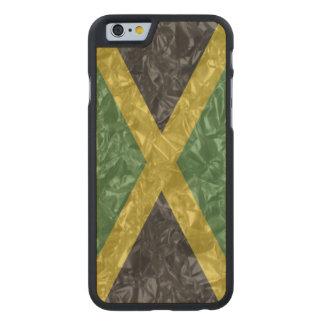 Jamaican Flag - Crinkled Carved® Maple iPhone 6 Slim Case