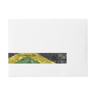 Jamaican Flag - Crinkled Wrap Around Address Label
