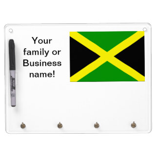 Jamaican Flag Dry Erase Board With Keychain Holder