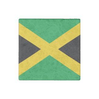 Jamaican Flag Stone Magnet