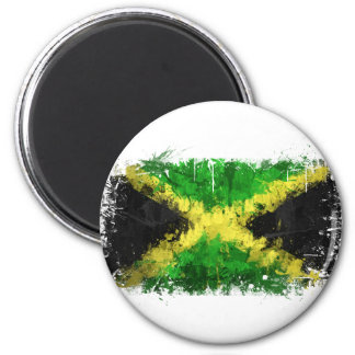 Jamaican Flag Graffiti 2 Inch Round Magnet