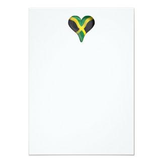 Jamaican Flag In A Heart Card