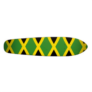 Jamaican Flag Jamaica Colors Geometric Pattern Skateboard