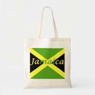 Jamaican flag Jamaican Budget Tote Bag