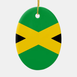 jamaican-flag-large[1].jpg Double-Sided oval ceramic christmas ornament
