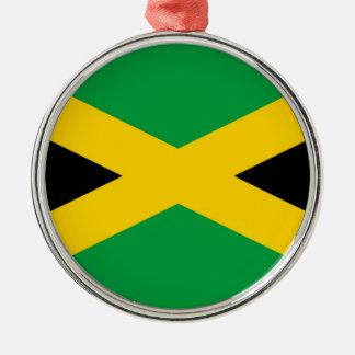 jamaican-flag-large[1].jpg round metal christmas ornament