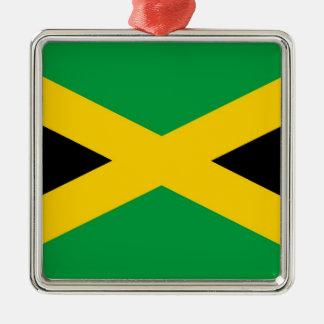 jamaican-flag-large[1].jpg square metal christmas ornament