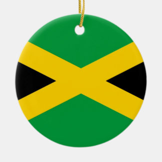 jamaican-flag-large[1].jpg Double-Sided ceramic round christmas ornament