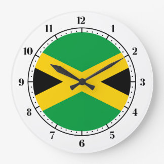 Jamaican flag large clock