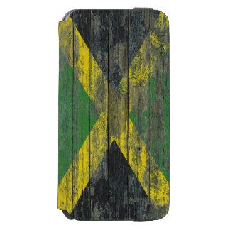 Jamaican Flag on Rough Wood Boards Effect Incipio Watson™ iPhone 6 Wallet Case