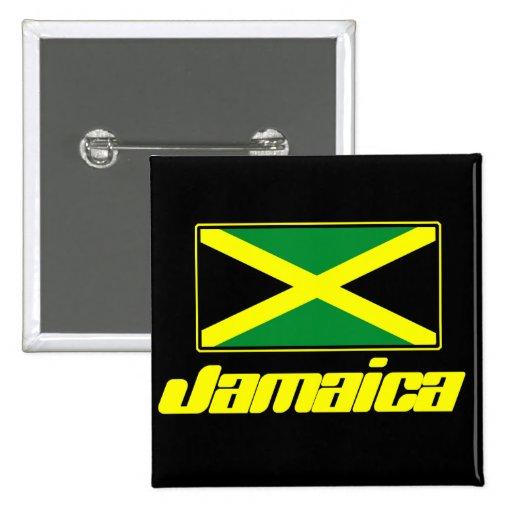 Jamaican Flag Pinback Button