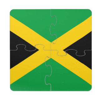 Jamaican Flag Puzzle Coaster