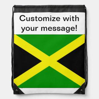 Jamaican Flag Drawstring Bag