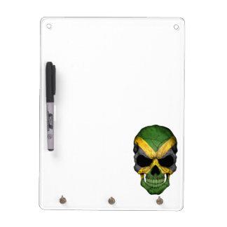 Jamaican Flag Skull Dry Erase White Board