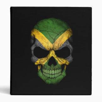 Jamaican Flag Skull on Black Binder