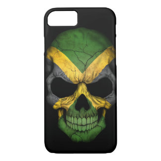 Jamaican Flag Skull on Black iPhone 7 Case
