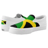Jamaican Flag Slip-On Sneakers