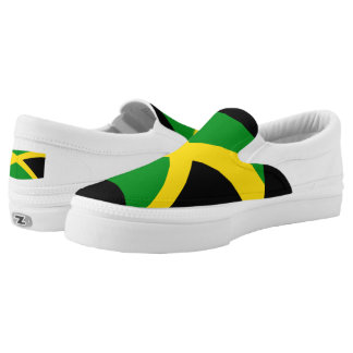 Jamaican canvas shoes printed shoes zazzle jamaican flag slip on sneakers voltagebd Gallery