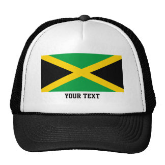 Jamaican flag trucker hat